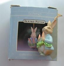 "Vintage Schmid Beatrix Potter Peter Rabbit Ornament 1 3/4"" Resin In Box 1990"
