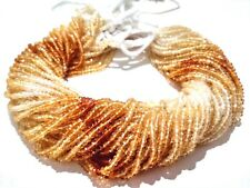 "5 Strands Lot Natural Citrine Shaded Rondelle Faceted 3-3.5mm,13"" Gemstone Beads"