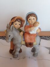 Goebel Nina & Marco GROSSFIGUR ★ Heilige Familie mit Esel ★ DIE FLUCHT ★ RARITÄT