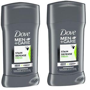 (2)Dove Men+Care Stain Defense Fresh Antiperspirant Deodorant Stick, 2.7 Oz Each