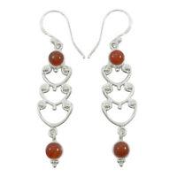925 Sterling Silver Dangle Earrings Set Designer Gemstone Indian Women Jewelry