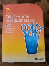 Microsoft Office 2010 Home and Business Original Packaging, Disc, and Key.