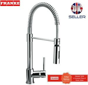 FRANKE CHROME FINISH MIXER TAP SPRING SINGLE LEVER PULL OUT SPRAY NEW!!!