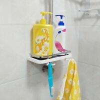 Bathroom Shelf Shower Pole Storage Caddy Rack Organiser Tray Holder Accessory DF