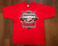 Detroit Red Wings Vintage Starter 1998 Stanley Cup Champions Shirt L Large NWT