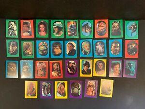 1983 Topps Star Wars Return of the Jedi Series 1 Complete 33 Sticker Card Set EX