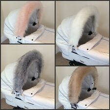 Luxury FAUX FUR Pram Hood Trim fits My Babiie Icandy Venicci Egg Journey Stomp