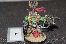 Juegos taller Warhammer 40k Orks Warboss guerra jefe B2 Alcance Negro Figura Pintada