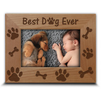 Best Dog Ever- Engraved Wood Picture Frame-Dog lover gift-Doggie and me
