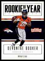 2016 PANINI ROOKIE OF THE YEAR DEVONTAE BOOKER RC 9/199 DENVER BRONCOS #11