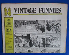 1973 Vintage Funnies #38 Comic Newspaper Vgn Superman Mickey Mouse
