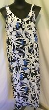 Autograph White Blue Black Floral Sundress Beach Summer Party Dress 20