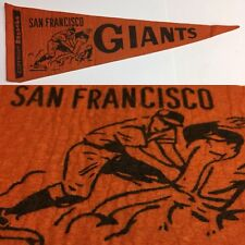 Vintage 50s SF San Francisco Giants Baseball Mlb Mini Pennant 4.75x14.5 Bazooka