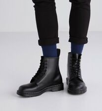 NEW Dr. Martens Men's 1460 Mono 8-Eye Gothic Black Smooth Leather Boot Shoes