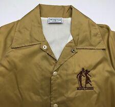 Vintage Adult Unisex S 80s Prime Timers Ballroom Dancing Tan Light Jacket Coat