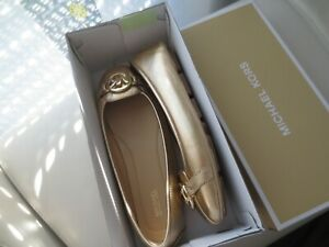 Michael Kors Ballerinas Damen Schuhe gold Ballerina Gr. 40