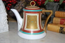Wonderful Empire Style Neoclassical Beaded Jeweled Hp Cabinet Coffee Or Tea Pot