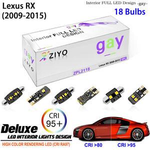 White LED Light Bulbs Interior Light Kit For 2009-2015 Lexus RX 270 350 450