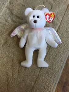 ty Beanie Baby Halo 1998 with Rare Brown Nose, Tag Errors