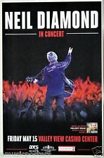 NEIL DIAMOND 2015 SAN DIEGO CONCERT TOUR POSTER - Neil Playing To The Crowd