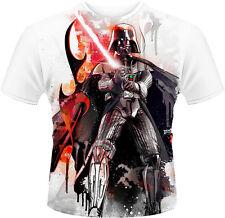 Star Wars Vader Stencil Die Sub Print T-Shirt Unisex Size Größe L PHM