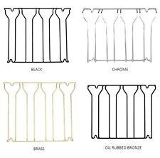 Hanging Stemware Glass Rack - 4 Channel - Black/Brass/Chrome/Oil Rubbed Bronze