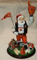 "The Danbury Mint 2000 CLEVELAND BROWNS 12"" Santa Claus Ceramic Figurine MINT!"