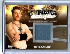 WWE Sheamus Elimination Chamber 2010 Topps GOLD Event Used Ring Mat Card SN25/50