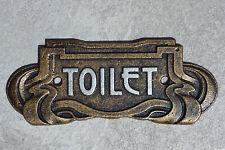 Toilette Porta Firmare Art Nouveau Antico ghisa effetto bronzo 18.5cm