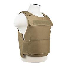 NcStar Discreet Lightweight Plate Carrier Tactical Vest Police SWAT M-XXL TAN