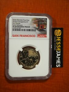 2018 S REVERSE PROOF SACAGAWEA DOLLAR NGC PF69 EARLY RELEASES TROLLEY LABEL