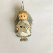 Personalised Christmas Tree Hanging Angel Decoration - Millie