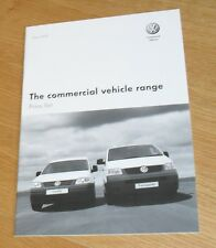 VOLKSWAGEN VW Van Price Guide 2007 TRANSPORTER T5 Caddy Crafter + opzioni