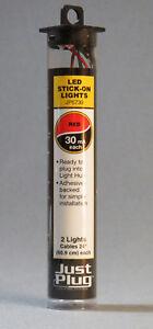 WOODLAND SCENICS STICK ON LIGHTS FOR JUST PLUG LIGHTING SYSTEM LED RED WDS5739