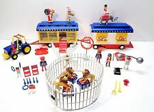 Playmobil ROMANI CIRCUS STRONGMAN, LION TAMER, ELEPHANT & Small Accessories LOT