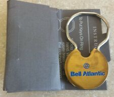 COLLECTABLE BRASS KEYRING TELEPHONE-COMPANY BELL  ATLANTIC RETIRED VINTAGE