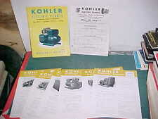 1956 KOHLER ELECTRIC PLANTS CATALOG AUTO STAND-BY, SOLE SUPPLY, MARINE KEP56-1
