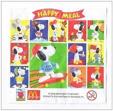 Lot de 12 maxi Snoopy Mac Do France Juin 2000 - Série complète - NEUF SOUS CELLO