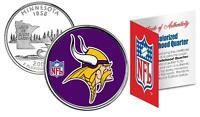 MINNESOTA VIKINGS Officially Licensed NFL Minnesota US State Quarter Coin w/COA