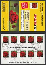 Bund Folienblatt 7 gest.10x2675  Rose mit Duft !2010  Vollstempel Delmenhorst(2)