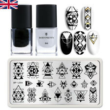 3pcs BORN PRETTY Nail Stamping Kit Stamping Polish Flowers Leaf Image Template