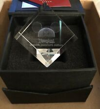 New Disneyland Cast Member Exclusive Inspire Innovate Dream Glass Prism Cube