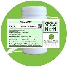 Schüßler - Salz 11 Silicea D12 glutenfrei 1000 Tabletten PZN 08000502