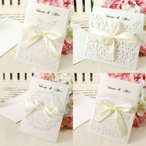 Set of 10 Wedding Invitations Or Evening Invites with Envelopes & Free Ship