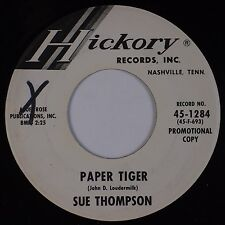 SUE THOMPSON: Paper Tiger / Mama, Don't Cry At My Wedding HICKORY DJ Promo 45