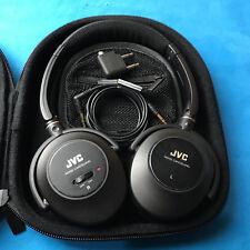 JVC HANC250 Noise Canceling Stereo Headphones wht case  -Black  Ships ASAP!!