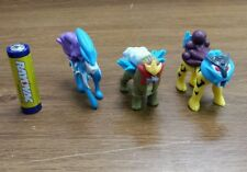 Generation 2 pokemon plastic figure set lot Raikou Suicune Enteia 1-2inches tall