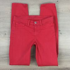 J Brand Skinny Leg Bright Red Women's Jeans Size 24 ACtual W26 L29 (GG12)