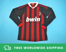 AC Milan 2009-2010 Long-Sl. Jersey Maglia Shirt Ronaldinho Beckham Sizes S-XXL