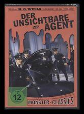DVD DER UNSICHTBARE AGENT - PETER LORRE - H.G.WELLS - MONSTER CLASSICS ** NEU **